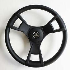 New OEM Gussi Boat Steering Wheel M13 Black All Plastic ABS & Aluminum Keyed Hub