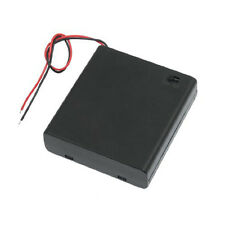 """ON/OFF Switch 5.5"""" Leads Battery Holder Box Case for 4x1.5V AA Batteries BTSZUK"""