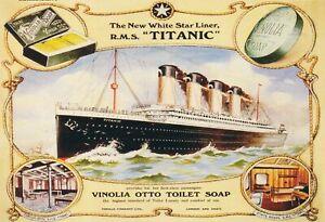 Blechschild RMS Titanic Vinolia Otto Soap Metallschild Wanddeko 20x30cm tin sign