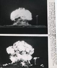 PHOTO DE PRESSE :TEST ATOMIQUE 1957 LAS VEGAS, USA EXPLOSION NUCLEAIRE A-BOMB