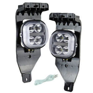 White Led Fog Light DRL for 2005 2006 2007 Ford F250 F350 F450 Driving Lamps
