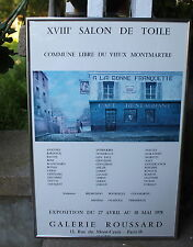 Original - Vintage 1978 Galerie Roussard Paris Framed French Poster  - Utrillo
