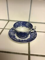 Enoch Woods English Scenery Blue Cup/Saucer