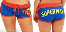 DC Comics Superman Junior Front Tie Blue Booty Shorts - Size:  XLarge
