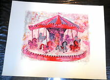 "Lenore Beran  ""Carousel""  Very Limited Edition  21/50 Pencil  Signed"