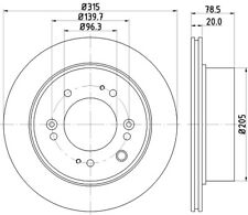 Mintex Rear Brake Discs MDC2227  - BRAND NEW - GENUINE - 5 YEAR WARRANTY
