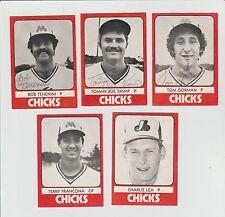 1980 TCMA Memphis Chicks Team 30 Card Set 3 Signed Cards