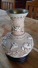 Vintage 1982 Cloisonné Arnart Brass Birds Flowers Chinese Vase