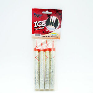 4 Candles Ice Sparkling Fountain Birthday Cake Décor Party  Toppers
