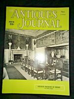 Antiques Journal 1956 Vizcaya Museum of Miami Music Boxes Delft Dolls Corning