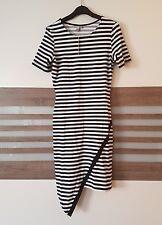 9ad9178d96d Kleid Asos London Neu 36 10 Stretch Gestreift Schwarz Weiß