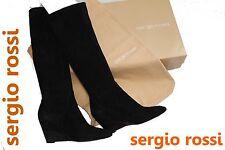 ~SERGIO ROSSI~LUXUS Damen Stiefel~Gr.40,5~NEUwertig~OVP+Beutel~Stretch Schwarz~!