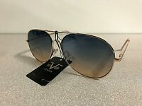 New Versace 19V69 Women's Aviator Sunglasses MARTINA Pilot Eyewear Gold Frame