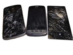 Old Broken Phones Nokia And LG