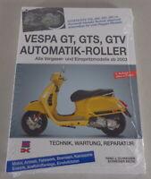 Manuale Riparazione Tecnica Manutenzione Vespa Gt GTS Gtv Automatica - Motorino