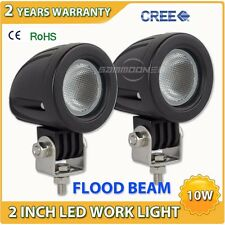 2X 10W CREE LED Work Light Offroad Round Flood Lamp Truck 4WD ATV 4X4 Motorcycle
