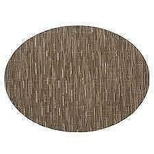 """Chilewich Bamboo Dune Oval Placemat Table Linens 14"""" X 19.25"""""""