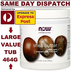 NOW Foods Shea Butter 454g 100% PURE & NATURAL EMOLLIENT POWERFUL MOISTURIZER!