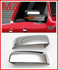 For 09-14 Ford F150 Pickup Truck Chrome Door Rear View Top Mirror Cover Set Cap