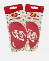 2 x Jelly Belly 2D Car Air Freshener Freshner Fragrance Scent - Very Cherry