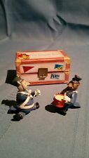 The Roosevelt Bears - Schmid Miniatures -Miniature Band Bears in Suitcase