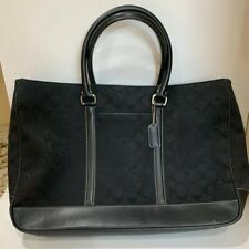 Coach Signature Business Satchel 6088 Black Laptop Bag Vintage Rare