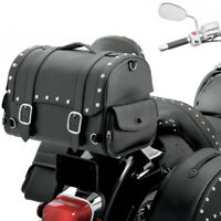 Pair of Motorbike Storage Tool Saddle Bags Motorcycle Pannier Leather Saddle Bag
