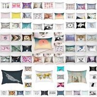 30×50cm Rectangular Pillow Case Sofa Waist Throw Cushion Cover Home Decor Showy