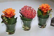 75-€ SIA HOME FASHION 3 x Kunstblumen in der Vase flowers domicil impressionen