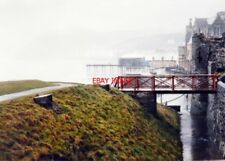 PHOTO  ABERYSTWYTH LOOKING NORTHEAST FROM THE CASTLE RUINS IN 1987 ON A VERY WET