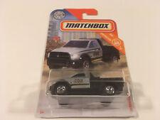 Matchbox Diecast 2016 Dodge Ram Flatbed Construction Pickup Silver 1:64