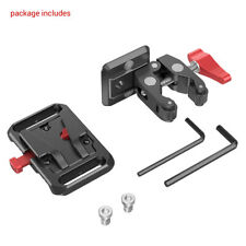 SmallRig Mini V Mount Battery Plate for BP-190WS with Crab-Shaped Clamp 2989