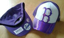 Boston Red Sox New Era MLB Kids Purple Glimmer Glitz 9FORTY Adj Cap,Toddler