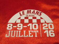 Lemans le mans classic 2016 Autocollant Decal le collement électrostatique en verre