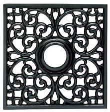 "BOX of 3 Westinghouse Ceiling Medallion Square Parisian Scroll 18"" x 18"" (BLACK)"