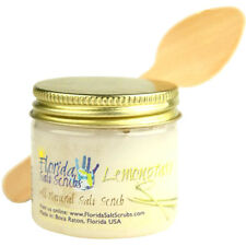Florida Salt Scrubs Lemongrass Body Feet Hands Bath Salt Scrub 2.9 oz Jar