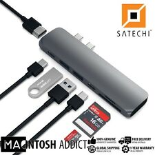 Satechi USB Type-C Pro Hub | 4K HDMI | Thunderbolt 3| Pass-through | Card Reader