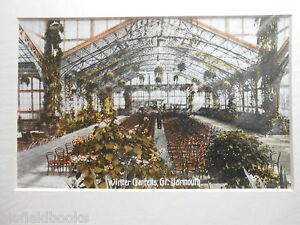 Great Yarmouth Mounted Edwardian Photograph - The Winter Gardens c1910 - Repro