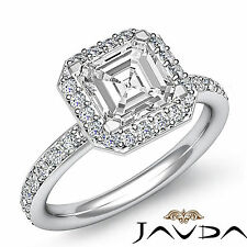 Genuine Asscher Diamond Engagement Ring EGL G SI1 Clarity 14k White Gold 1.36 ct