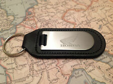 HONDA Key Ring Blind Etched On Leather JAZZ INSIGHT CIVIC ACCORD CR Z CR V