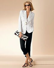 Sutton Studio  NEW $248 Safari Jacket  Pantsuit  Cropped Pants  6/8