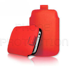LEATHER PULL TAB SKIN CASE COVER POUCH FITS VARIOUS NOKIA PHONES