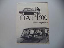 advertising Pubblicità 1961 FIAT 1100 BERLINA SPECIALE