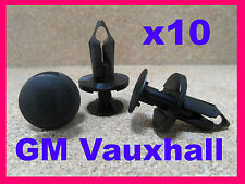 10 Vauxhall GM engine undertray carriage fastener retainer clips