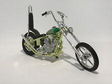 CHOPPER IRON MOTORBIKE scale 1:18 longfork flame tank diecast model toy bike car