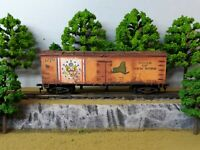 HO Scale Custom Painted Weathered Train New York State NY Box Car