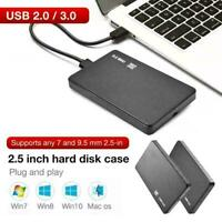 2.5'' HDD SSD Case Sata to USB 2.0 Hard Drive Box Enclosure Adapter N2Y2 Z0A6