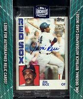 2020 Topps Archives Signature Series Auto 1984 JIM RICE 2170 - Boston Red Sox