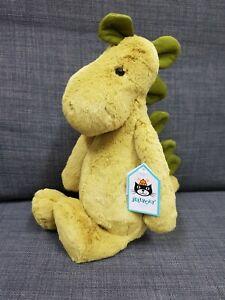 Kids Soft Toy - Jellycat Bashful Dino Medium - Baby Kids Birthday Present!