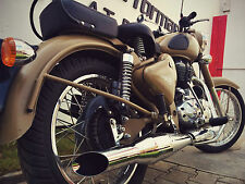 Red Rooster Performance Exhaust - Royal Enfield Classic 500/350 - Mirror finish
